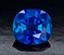 3.08 ct. blue Kashmir sapphire. Unheated, cushion, antique mixed cut.